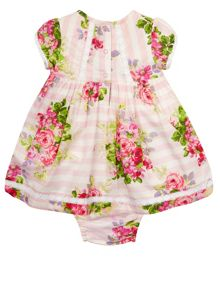 Monsoon Newborn Girls Rosie Cascade Dress Set