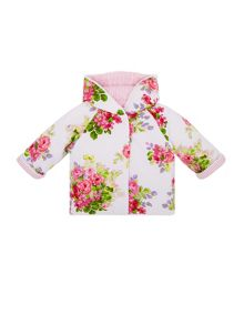 Monsoon Newborn Girls Posie Reversible Jacket