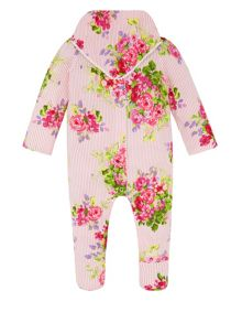 Monsoon Newborn Girls Posie Sleepsuit & Bib