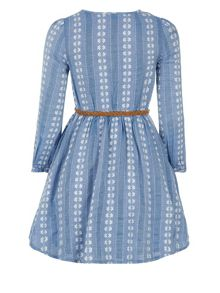 Monsoon Girls Alicia Chambray Dress