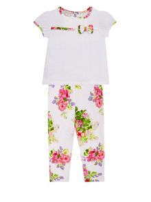 Monsoon Newborn Girls Tillie Jersey Set
