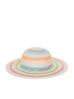 Girls Rainbow Sparkle Floppy Hat