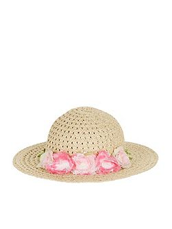 Girls Baby Flower Cluster Floppy Hat