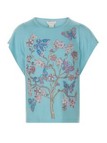 Monsoon Girls Francesca Flower Tee