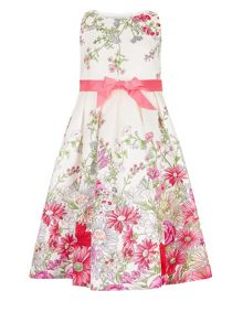 Monsoon Girls Arabella Border Dress