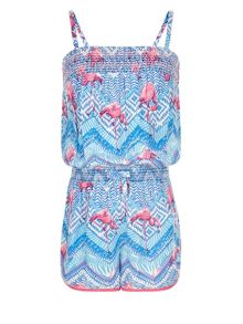 Monsoon Girls Flamingo Tribal Playsuit