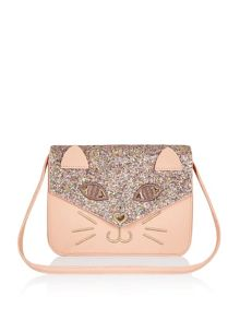 Monsoon Girls Sparkle Cat Satchel