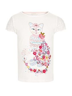Girls Pandora Cat Tee