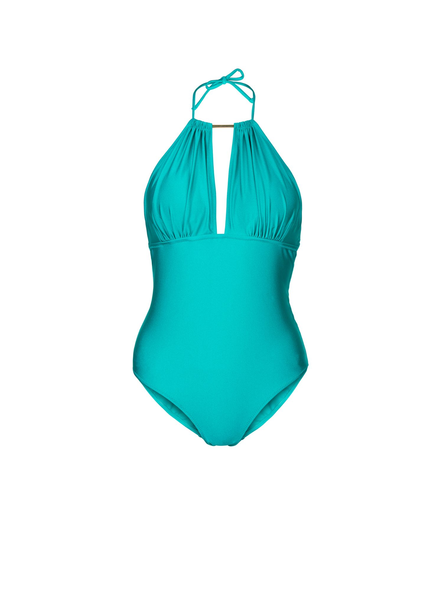 Accessorize High Neck Plunge Swimsuit Green