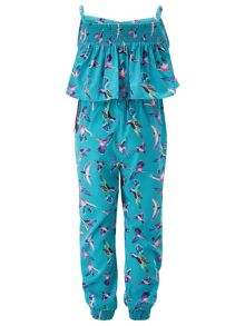 Monsoon Fern Bird Print Jumpsuit