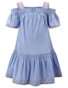 Monsoon Girls Josie Chambray Dress