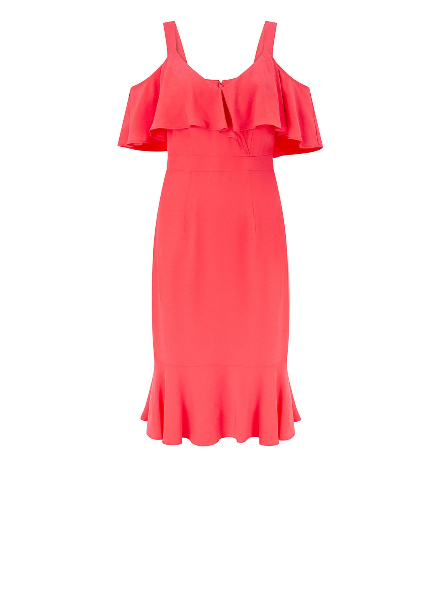 Monsoon Antonella Dress, Coral