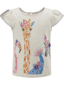 Monsoon Girls Jungle Animal Tee