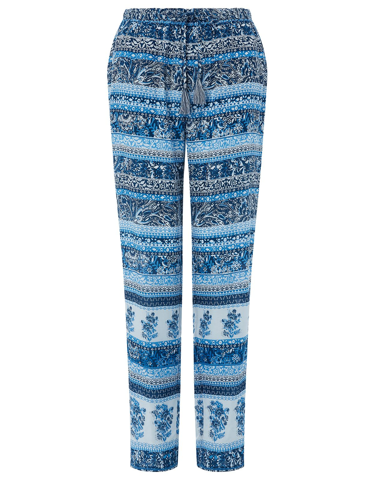 Monsoon Mia Print Pack Trouser, Blue