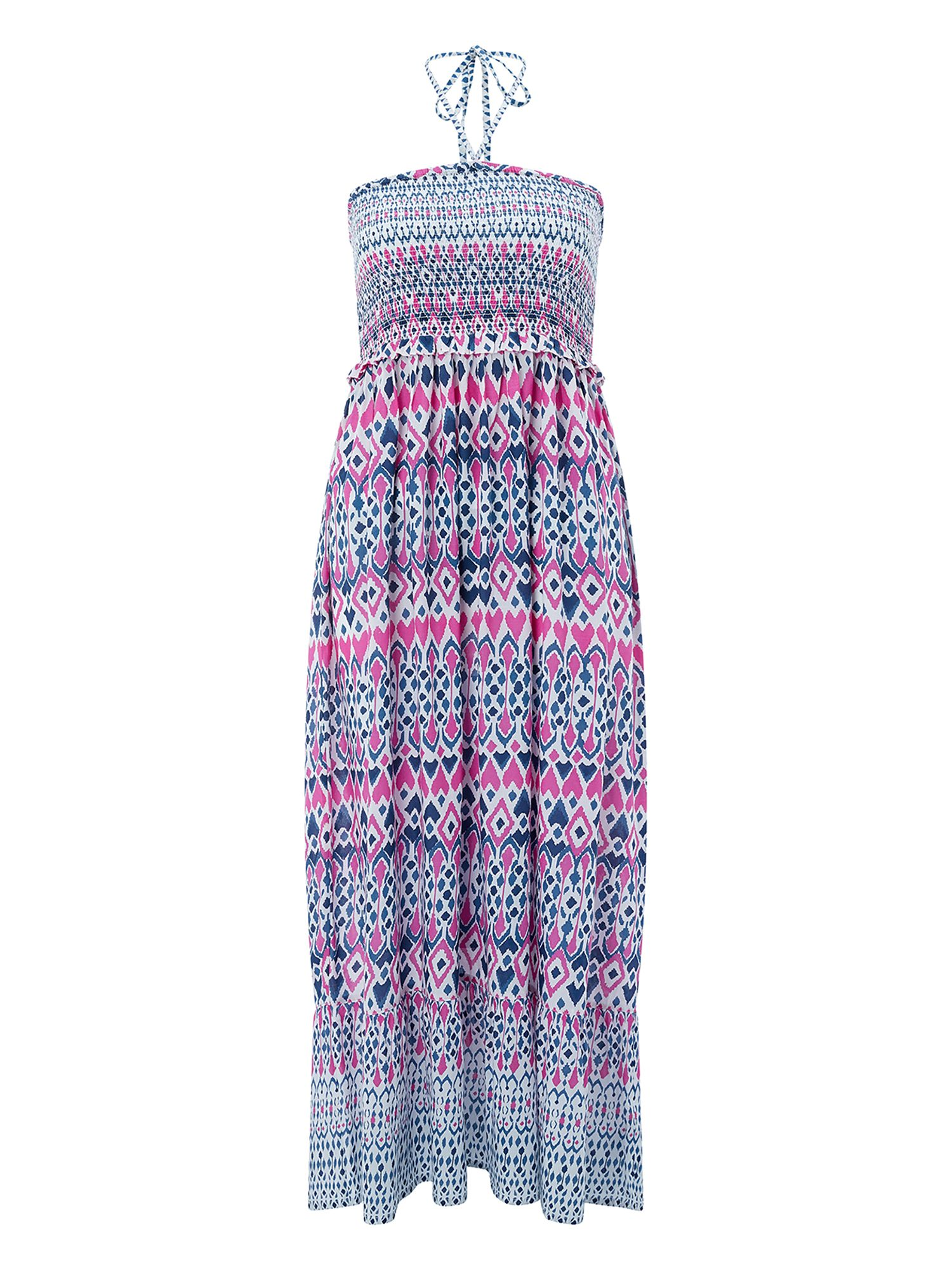 Monsoon IMMY IKAT BANDEAU MIDI DRESS, Multi-Coloured
