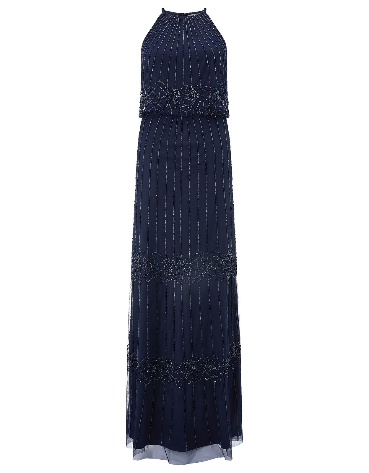 Monsoon Buttercup Maxi Dress, Blue