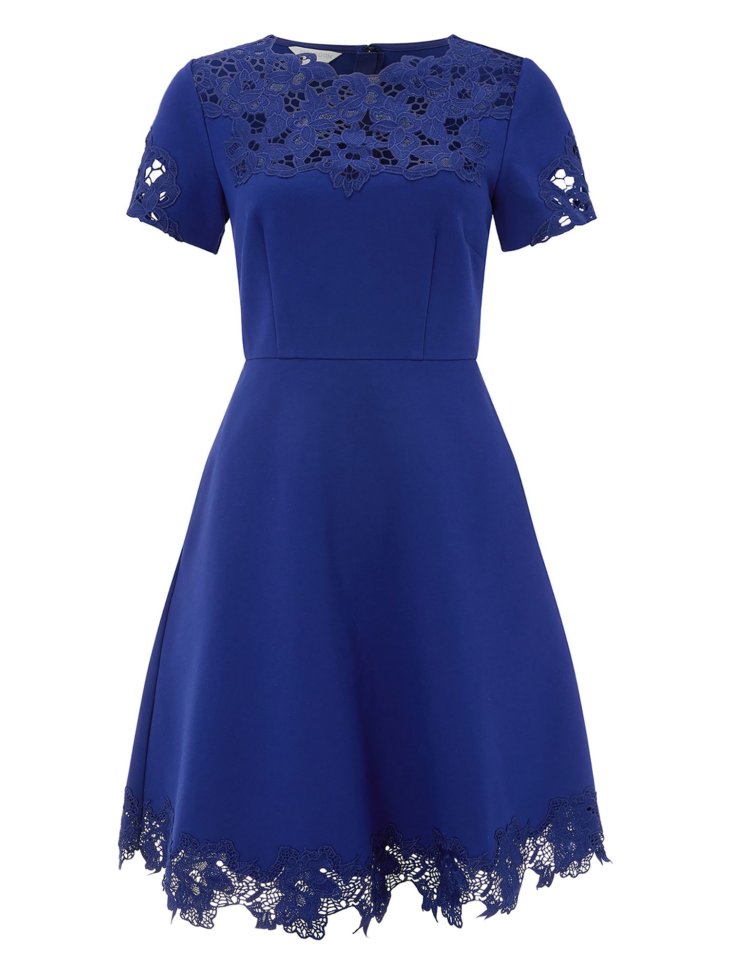 Monsoon Peyton Ponte Dress, Blue