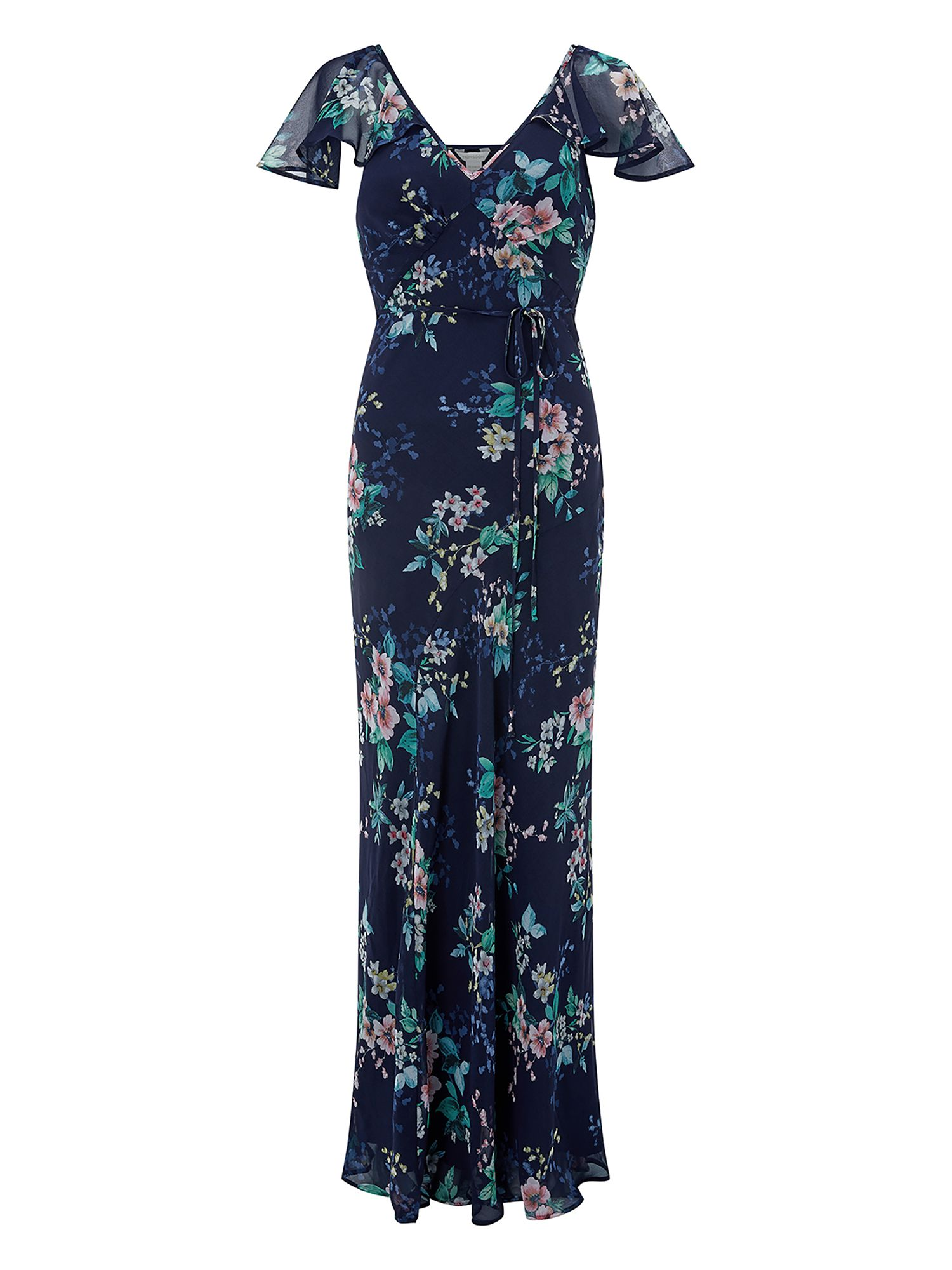 Monsoon Alicia Print Maxi Dress, Blue