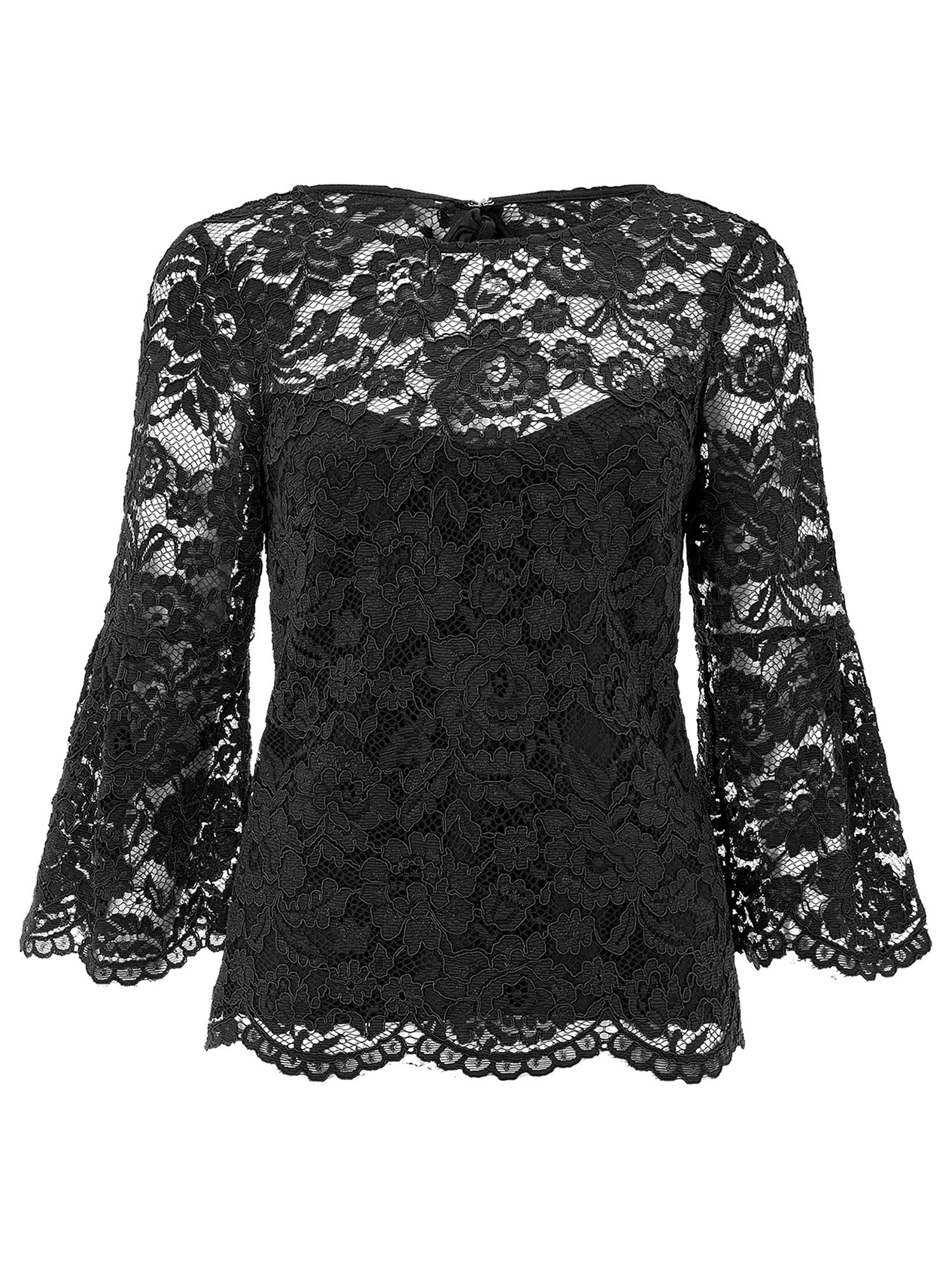 Monsoon Lana Lace Top, Black