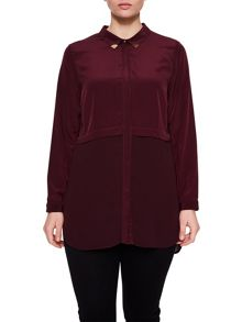 Elvi Maroon Double Layer Shirt