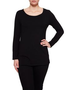 Elvi Black Long Sleeve Top