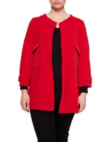 Elvi Red Collarless Jacket