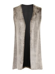Elvi Grey Faux Fur Gilet