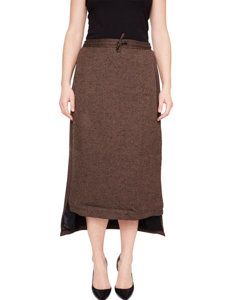 Elvi Brown Tweed Skirt