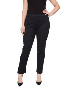 Elvi Black Snake Print Trousers