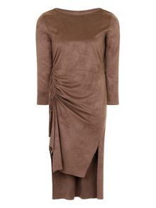 Elvi Maroon Woolen Shift Dress