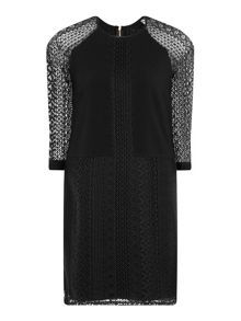 Elvi Black Lace Shift Dress