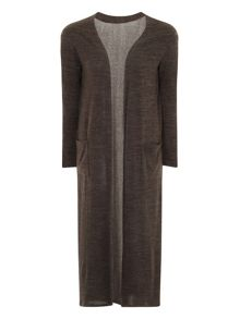 Elvi Green Long Line Cardigan