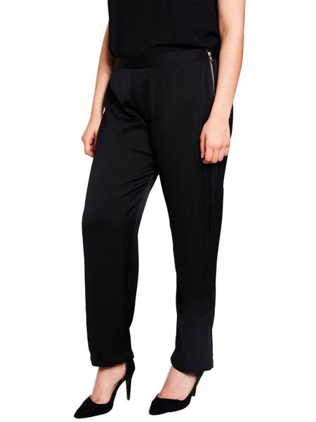 Elvi Black Slim Fit Reptile Trouser