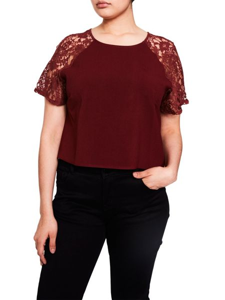 Elvi Wine Lace Box Top