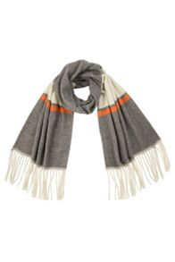 Elvi Grey & Orange Stripe Scarf