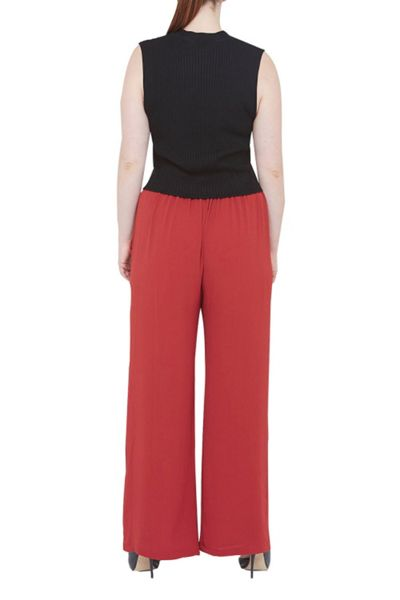 Elvi Red Palazzo Trousers