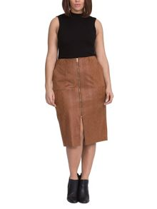 Elvi Plus Size Tan Snake Pencil Skirt