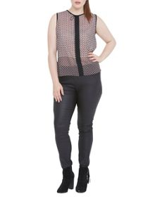 Elvi Geometric Print Top