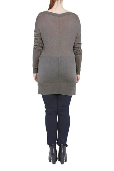 Elvi Grey V-Neck Jumper