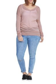 Elvi Pink V-Neck Jumper