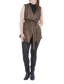 Elvi Faux Leather Gilet