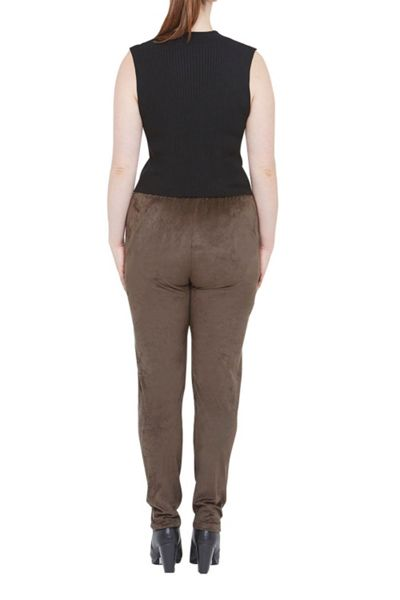 Elvi Suedette Relaxed Trousers