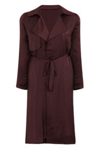 Elvi Burgundy Trench