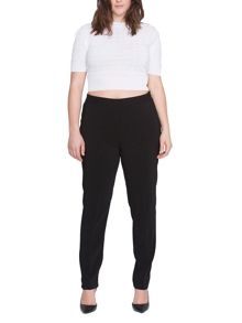 Elvi Plus Size Black Cigarette Pants