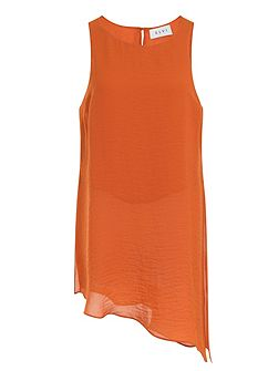 Orange Asymmetric Tunic
