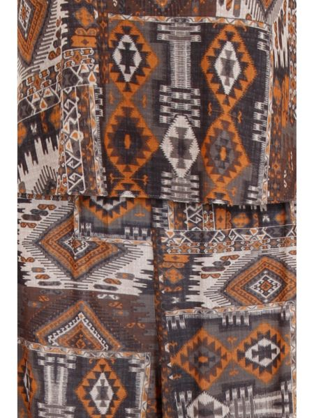 Elvi Plus Size Tribal Print Jumpsuit