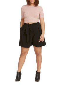 Elvi Plus Size Black Wide Leg Shorts