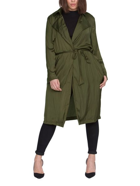 Elvi Plus Size Khaki Mac
