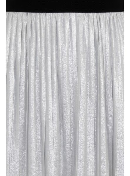 Elvi Plus Size Silver Pleated Skirt