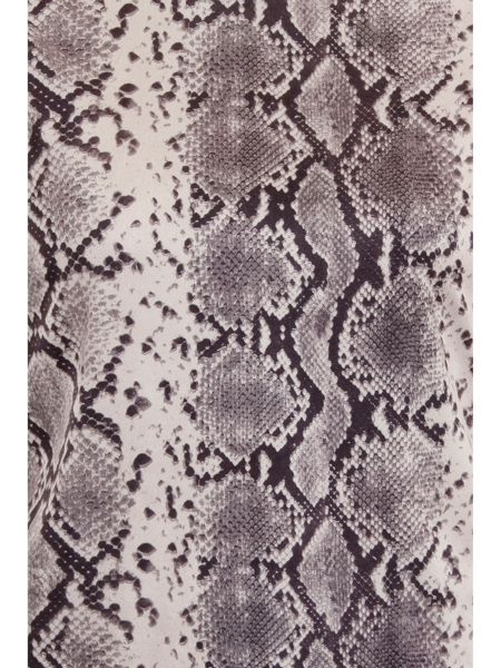 Elvi Plus Size Snake Print Turtle Neck Top